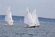 _V0A8099. ©2014 Chip Riegel / www.chipriegel.com. The 2014 Bullseye Class National Regatta, Fishers Island, NY, USA, 07/19/2014. The Bullseye is a Nathaniel Herreshoff designed 15' Marconi rig sailing boat.