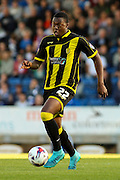 Burton Albion defender Jerome Binnom-Williams scores the winning goal during the Sky Bet League 1 match between Chesterfield and Burton Albion at the Proact stadium, Chesterfield, England on 26 September 2015. Photo by Aaron Lupton.