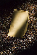 One pound of coffee and coffee bean still life