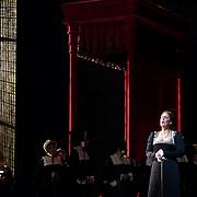 September 23, 2015 - New York, NY : Sondra Radvanovsky, foreground right, performs as Anna Bolena in a dress rehearsal for Gaetano Donizetti's 'Anne Bolena' at the Metropolitan Opera at Lincoln Center on Wednesday. CREDIT: Karsten Moran for The New York Times