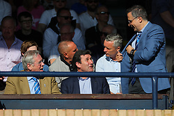 Steve Hamer (left) chairman, Tommy Widdrington new head of recruitment (centre) and Wael Al-Qadi (right) president of Bristol Rovers FC   - Mandatory by-line: Richard Calver/JMP - 05/05/2018 - FOOTBALL - Roots Hall - Southend-on-Sea, England - Southend United v Bristol Rovers - Sky Bet League One