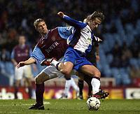 Copyright Sportsbeat. 0208 3926656<br />Picture: Henry Browne<br />Date: 2/2/2003<br />Aston Villa v Blackburn Rovers FA Barclaycard Premiership<br />Thomas Hitzlsperger of Villa show's Blackburn's Tugay that there's no way through