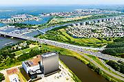 Nederland, Noord-Holland, Amsterdam,  29-06-2018; Watergraafsmeer, Science park met de hoogbouw van AM4 het nieuwste Equinix Data Centre. IJburg en Diemen Noord.<br /> Science park with the high-rise of AM4 the latest Equinix Data Center.<br /> <br /> luchtfoto (toeslag op standard tarieven);<br /> aerial photo (additional fee required);<br /> copyright foto/photo Siebe Swart