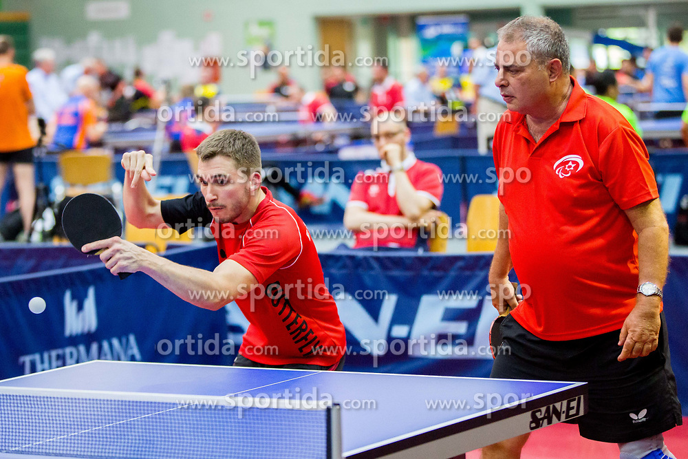 (Team ISR) SHUR Samuel and HERRAULT Esteban in action during 15th Slovenia Open - Thermana Lasko 2018 Table Tennis for the Disabled, on May 10, 2018 in Dvorana Tri Lilije, Lasko, Slovenia. Photo by Ziga Zupan / Sportida