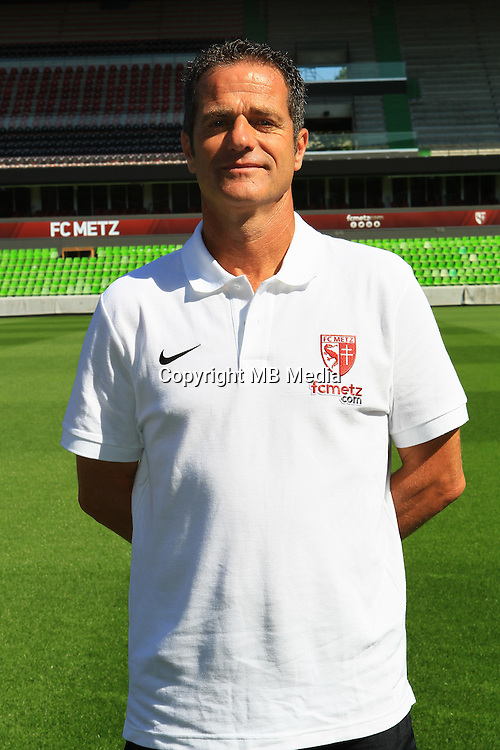 Philippe Hinschberger poses for a portrait during the Metz squad photo call for the 2016-2017 Ligue 1 season on September 15, 2016 in Metz, France<br /> Photo : Fred Marvaux / Icon Sport