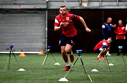 Aden Baldwin sprints as Bristol City Under 23's return to training with fitness testing ahead of the 2017/18 season - Mandatory by-line: Robbie Stephenson/JMP - 30/06/2017 - FOOTBALL - SGS Wise Campus - Bristol, United Kingdom - Bristol City Under 23's Fitness Tests