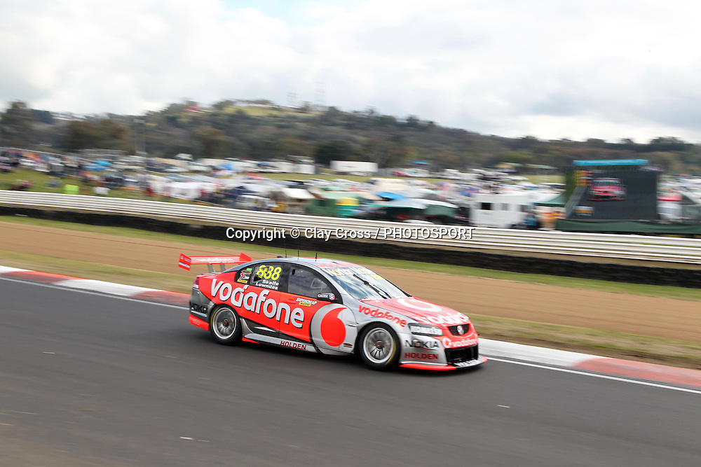 Craig Lowndes and Mark Skaife (Team Vodafone). 2011 Supercheap Auto Bathurst 1000 ~ Race 20 of the 2011 V8 Supercar Championship Series. Mount Panorama, Bathurst NSW on Friday 7 October 2011. Photo © Clay Cross / photosport.co.nz