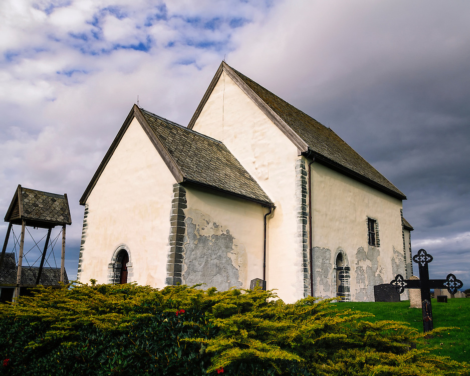 The old stonechurch at Sørbø, Rogaland, Norway.