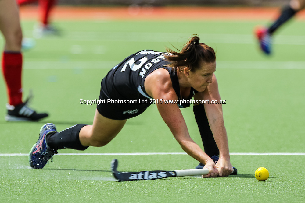 Ella Gunson in action. International Womens Hockey. New Zealand Black Sticks v Canada. Whangarei. New Zealand. Sunday 8 February 2015. Copyright Photo: Heath Johnson / www.photosport.co.nz