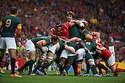 Maul near to the South African try line during the Rugby World Cup Quarter Final match between South Africa and Wales at Twickenham, Richmond, United Kingdom on 17 October 2015. Photo by Matthew Redman.