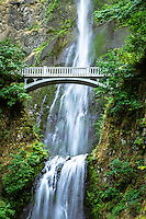 Multnomah Falls is possibly the most famous waterfall in the Columbia River Gorge. This popular tourist spot is seen by millions of people each year.