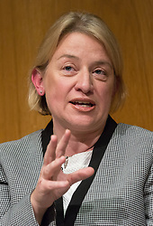 © Licensed to London News Pictures. 19/03/2015. London, UK. Green party leader, Natalie Bennett answering questions at the Pink News LGBT election debate held at the Welcome Collection in central London. Photo credit : Vickie Flores/LNP