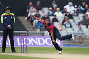 Northants Steelbacks  Saif Zaib during the Royal London 1 Day Cup match between Lancashire County Cricket Club and Northamptonshire County Cricket Club at the Emirates, Old Trafford, Manchester, United Kingdom on 24 April 2019.
