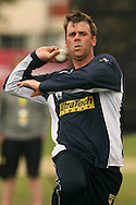 Shane Harwood of the Victorian Bushrangers in delivery stride during the Bushrangers training session held at St Georges Park in Port Elizabeth on the 17 September 2010..Photo by: Shaun Roy/SPORTZPICS/CLT20