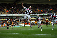 Photo: Rich Eaton.<br /> <br /> Wolverhampton Wanderers v West Bromwich Albion. The FA Cup. 28/01/2007. West Broms Kevin Phillips celebrates scoring early in the first half to make the score 2-0