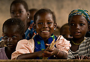 Children in classroom at the Kotonli kindergarten in the village of Kotonli, northern Ghana, on Thursday June 7, 2007.