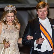 NLD/Amsterdam//20170523 - Koningspaar bij het diner Corps Diplomatique, Koning Willem Alexander en Koningin Maxima