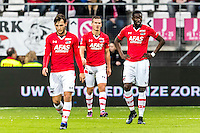 ALKMAAR - 11-12-2016, AZ -  Feyenoord, AFAS Stadion, teleurstelling na de 0-2, AZ speler Joris van Overeem, AZ speler Stijn Wuytens, AZ speler Derrick Luckassen