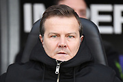 Forest Green manager Mark Cooper during the EFL Sky Bet League 2 match between Northampton Town and Forest Green Rovers at the PTS Academy Stadium, Northampton, England on 14 December 2019.