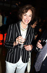 MARCELLA, LADY DASHWOOD at a concert performance of Death in Venice by Benjamin Britten in aid of The Venice in Peril Fund held at the Queen Elizabeth Hall, London on 30th June 2004.  Before the concert a cheque for 1 Million Pounds was presented by Pizza Express to the The Venice in Peril Fund.