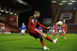Bristol City U18s Wes Burns in action during the second half of the match - Photo mandatory by-line: Rogan Thomson/JMP - Tel: Mobile: 07966 386802 - 04/12/2012 - SPORT - FOOTBALL - Ashton Gate Stadium - Bristol. Bristol City U18 v Ipswich Town U18 - FA Youth Cup Third Round Proper.