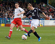 Martyn Corrigan can't stop Leigh Griffiths giving Dundee the lead - Stirling Albion v Dundee, IRN BRU Scottish League 1st Division, Forthbank Stadium, Stirling<br /> <br />  - © David Young<br /> ---<br /> email: david@davidyoungphoto.co.uk<br /> http://www.davidyoungphoto.co.uk