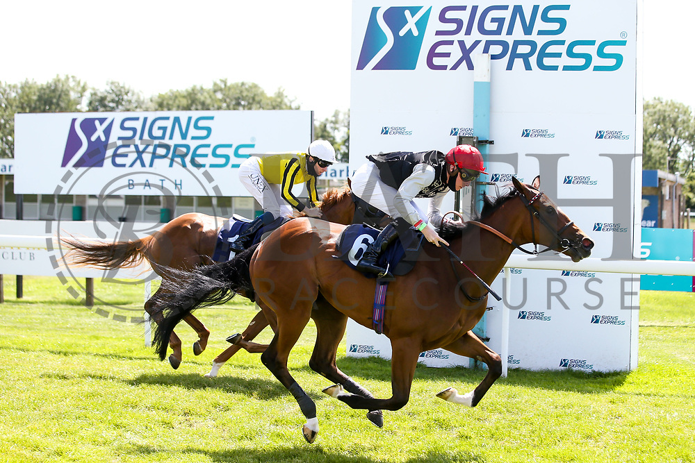 One Day ridden by Jason Watson trained by Roger Charlton wins the British Stallion Studs EBF Novice Median Auction Stakes - Mandatory by-line: Robbie Stephenson/JMP - 22/07/2020 - HORSE RACING - Bath Racecoure - Bath, England - Bath Races