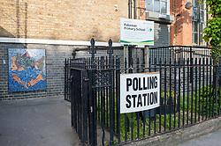 Pakeman school polling station.<br /> <br /> Richard Hancox | EEm 23052019