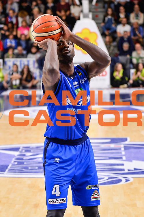 Dario Hunt<br /> Banco di Sardegna Dinamo Sassari - Germani Basket Leonessa Brescia<br /> Legabasket Serie A LBA PosteMobile 2017/2018<br /> Sassari, 08/04/2018<br /> Foto L.Canu / Ciamillo-Castoria