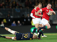 Rugby Union - 2017 British & Irish Lions Tour of New Zealand - Highlanders vs. British & Irish Lions<br /> <br /> Jack McGrath of The British and Irish Lions runs past Josh Dickson of Highlanders at Forsyth Barr Stadium, Dunedin.<br /> <br /> COLORSPORT/LYNNE CAMERON