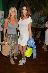 Left to right, MEG MATHEWS and LISA SNOWDON at a tea party to launch Grace Guru held at Sketch, 9 Conduit Street, London on 17th June 2015.