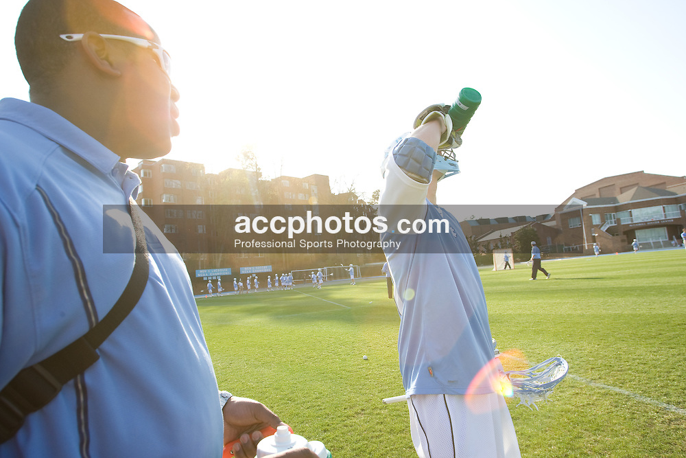 22 March 2008: North Carolina Tar Heels athletic training student Geoffrey Staton before the team played the Maryland Terrapins at Fetzer Field in Chapel Hill, NC.