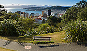 Wellington, Lambton Harbor, New Zealand, North Island.  Panorama stitched from 2 overlapping images.