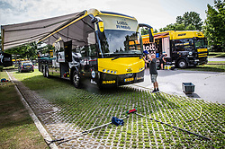 Buses of Team Lotto NL Jumbo prior to the 25th Tour de Slovenie 2018 cycling race, on June 12, 2018 in Hotel Livada, Moravske Toplice, Slovenia. Photo by Vid Ponikvar / Sportida