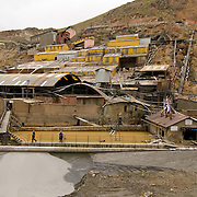 Huanuni, a state-run mine that is responsible for water pollution in the Huanuni river.