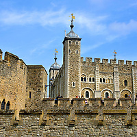 White Tower at Tower of London in London, England<br />