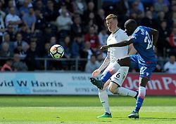 Papa Alioune Ndiaye of Stoke City scores a goal 1-1 -Mandatory by-line: Nizaam Jones/JMP- 13/05/2018 - FOOTBALL - Liberty Stadium - Swansea, Wales - Swansea City v Stoke City - Premier League