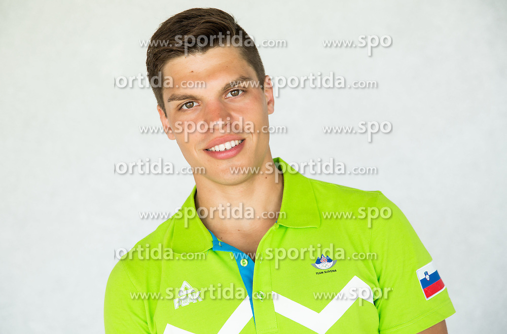 Domen Dornik, triathlon during presentation of Slovenian Team for Baku 2015 European Games,  on June 4, 2015 in Koper, Slovenia. Photo by Vid Ponikvar / Sportida
