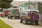 Residents in the Falkland Islands own the highest number of four wheel drive vehicles per person than any other nation.  The most popular being the British made Landrover