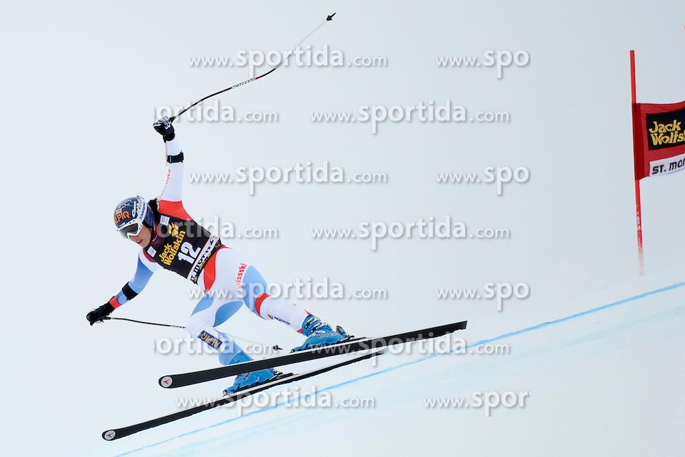 07.12.2012, Engiadina Rennstrecke, St. Moritz, SUI, FIS Ski Alpin Weltcup, Super Combination, Damen, Super G, im Bild, Dominique Gisin (SUI) // during Super G of ladies Super Combined of FIS ski alpine world cup at the Engiadina course, St. Moritz, Switzerland on 2012/12/ 07. EXPA Pictures © 2012, PhotoCredit: EXPA/ Freshfocus/ Urs Lindt..***** ATTENTION - for AUT, SLO, CRO, SRB, BIH only *****