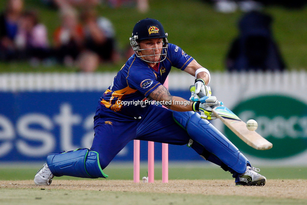 Brendon McCullum during the HRV Cup match between the Northern Knights v Otago Volts. Men's domestic Twenty20 cricket. Seddon Park, Hamilton, New Zealand. Thursday 19 January 2012. Ella Brockelsby / photosport.co.nz