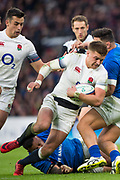 Twickenham, Surrey. UK.  Henry SLADE, during the England vs Samoa, Autumn International. Old Mutual Wealth Series. RFU Stadium, Twickenham. Surrey, England.<br /> <br /> Saturday  25.11.17  <br /> <br /> [Mandatory Credit Peter SPURRIER/Intersport Images]
