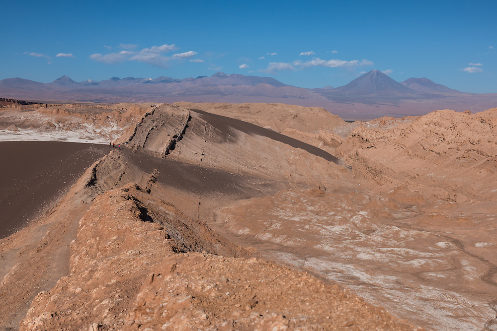 The moonlike landscape of the Valley of the Moon, Chile
