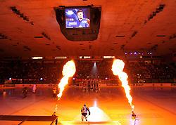 16.10.2011, Dom Sportava, Zagreb, CROCRO, EBEL, KHL MEDVESCAK ZAGREB vs EHC LIWEST BLACK WINGS LINZ, im Bild Einlauf der Spieler vor dem Spiel // during EBEL Eishockey game between Medvescak KHL Zagreb and EHC LIWEST BLACK WINGS LINZ at Dom Sportava in Zagreb, Croatia on 2011/16/10. EXPA Pictures © 2011, PhotoCredit: EXPA/ nph/ PIXSELL ****** out of GER / CRO / BEL ******