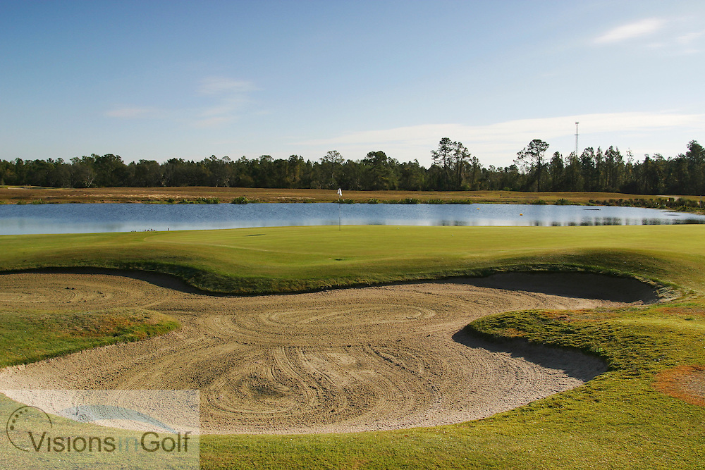 The 17th hole at The National Course, Champions Gate, Florida USA. Designed by Greg Norman<br /> <br /> Photo Mark Newcombe