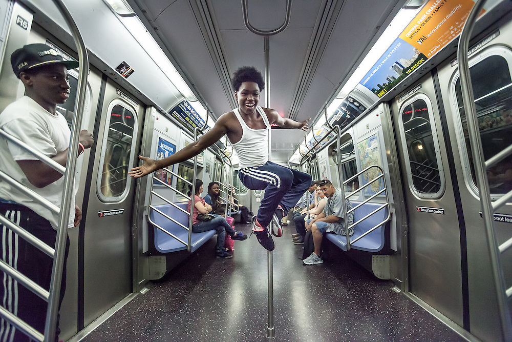 Young Dancers in the NYC Subway