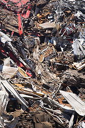 close up of scrap metal waste,
