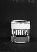 22-23/06/1965<br /> 06/22-23/1965<br /> 22-23 June 1965<br /> Winning packages for the Irish Packaging Institute. Antelope baker's cream powder.