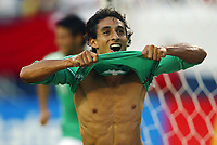 Fotball<br /> Foto: PikoPress/Digitalsport<br /> NORWAY ONLY<br /> <br /> MEXICO VS PERU<br /> Friday 6th June Mexico Played Against Peru for a friendy match in EEUU at the Soldado Stadium.<br /> Here Fernando Arce Celebrating a goal.