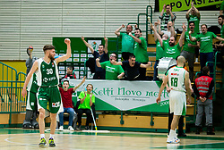 Dominik Mavra of Krka reacts during basketball match between KK Krka and KK Petrol Olimpija in 22nd Round of ABA League 2018/19, on March 17, 2019, in Arena Leon Stukelj, Novo mesto, Slovenia. Photo by Vid Ponikvar / Sportida